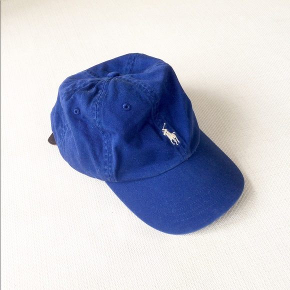 POLO Ralph Lauren Cobalt Blue Leather Strap Hat. M 5a9db12536b9ded242cef2be 20c14cac13bf